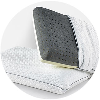 Silver Gel CoolFlow™ Memory Foam Pillow - See Product