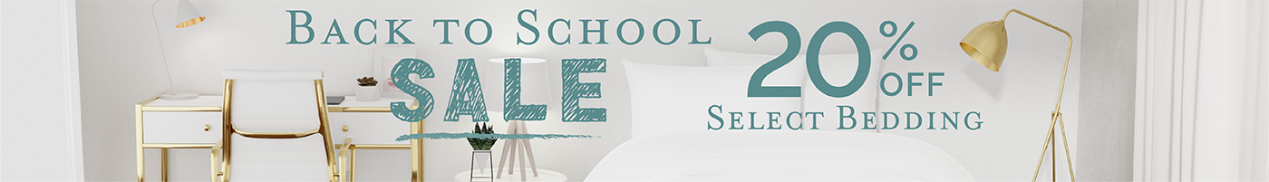 Back to School Sale - 20% Off Select Items