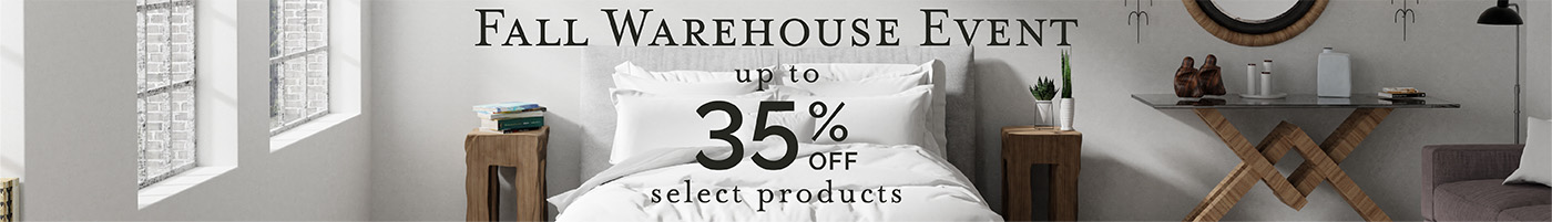 Fall Warehouse Event - Save Up to 35%